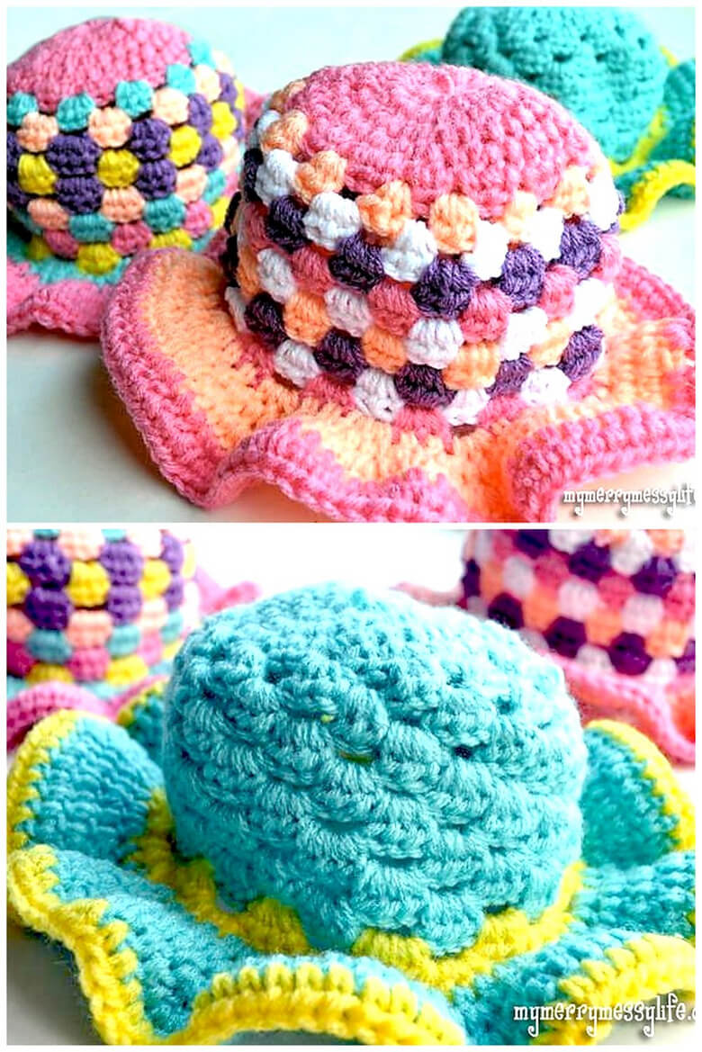 Crochet Sun Hat Granny Stitch
