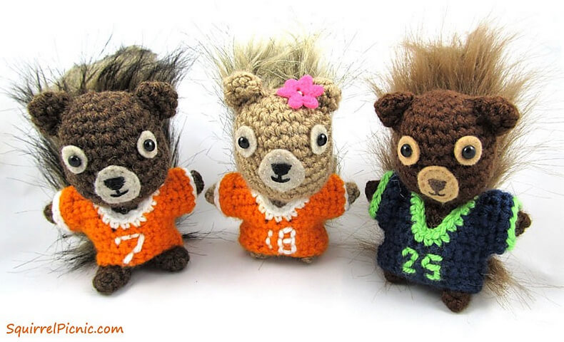 Football Jersey for Your Squirrel Friend Crochet Pattern