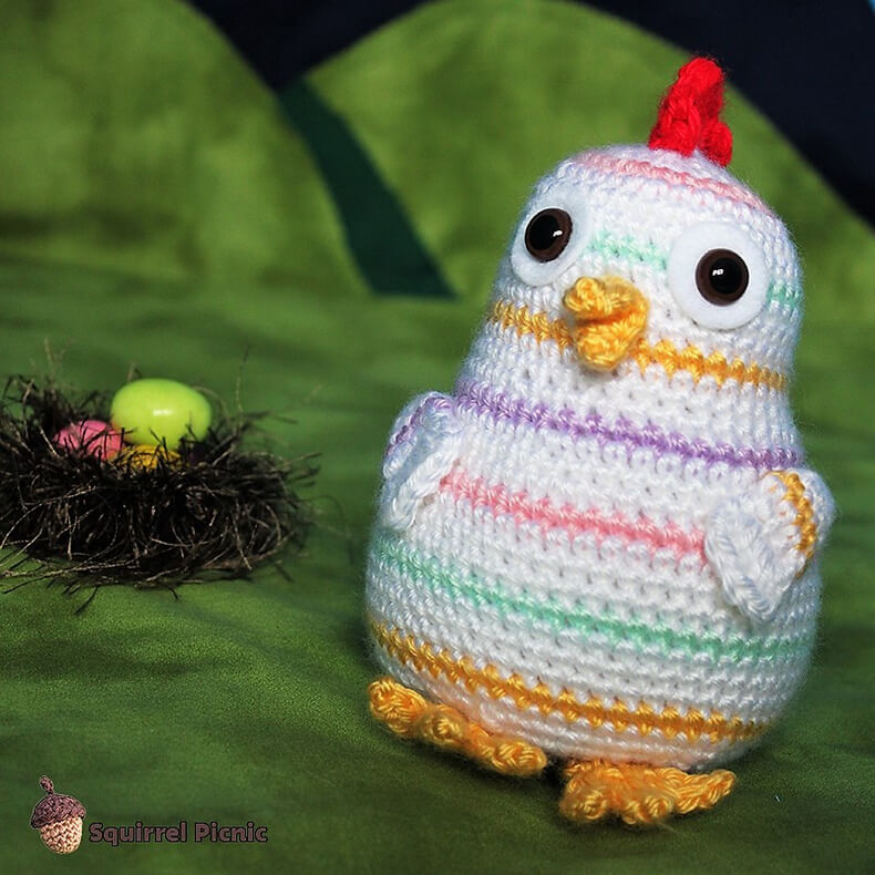 Rainbow Chicken Crochet Pattern