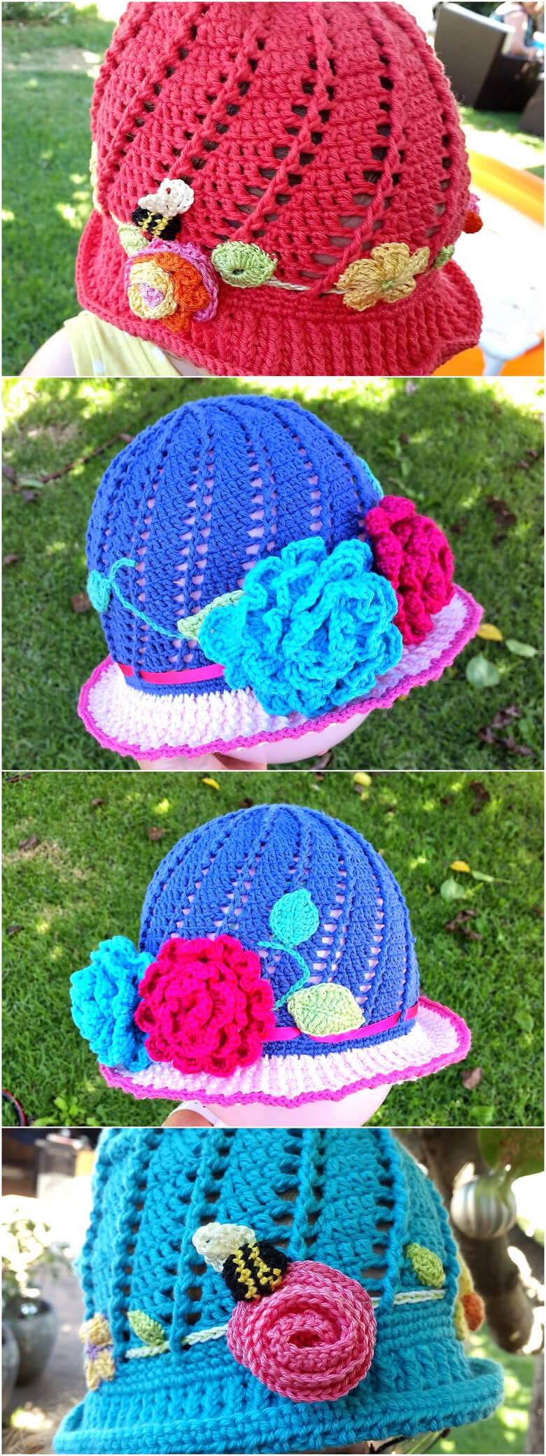 Russian Little Girls Cloche Hat Pattern