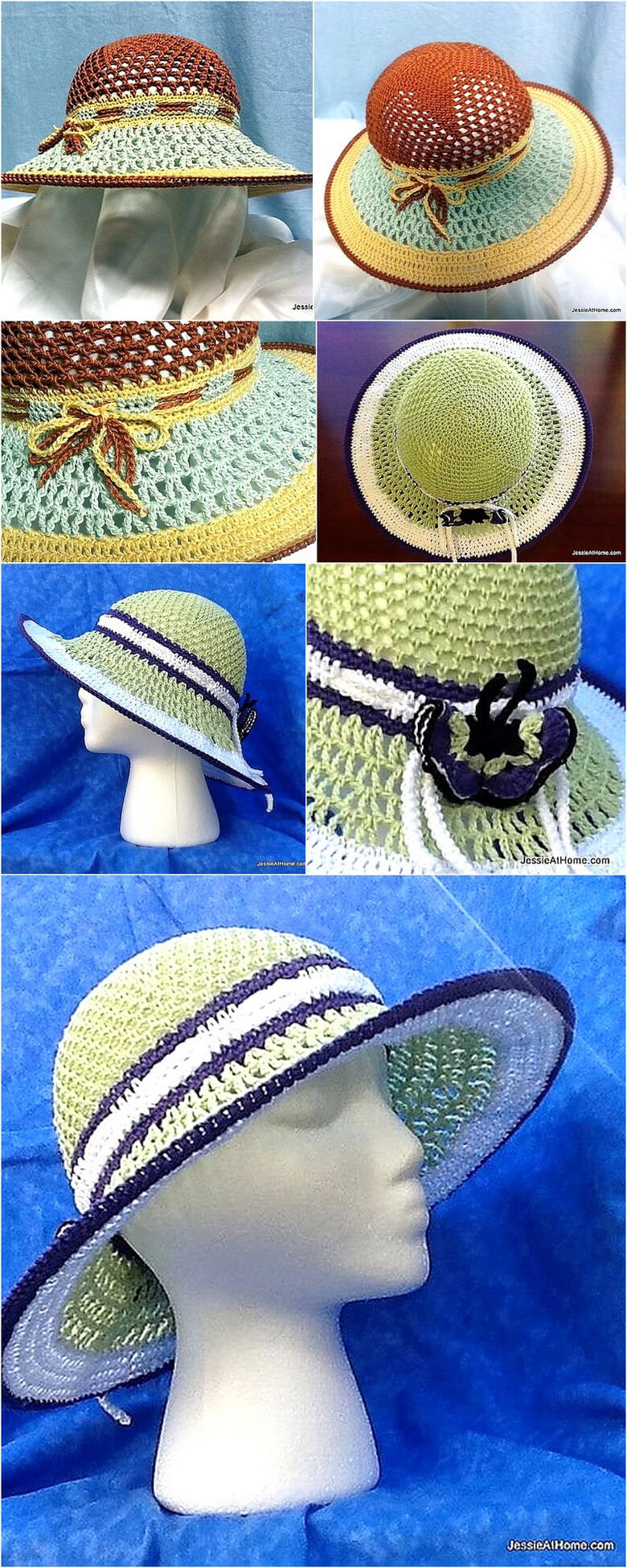 Star Sun Hat ~ Free Crochet Pattern