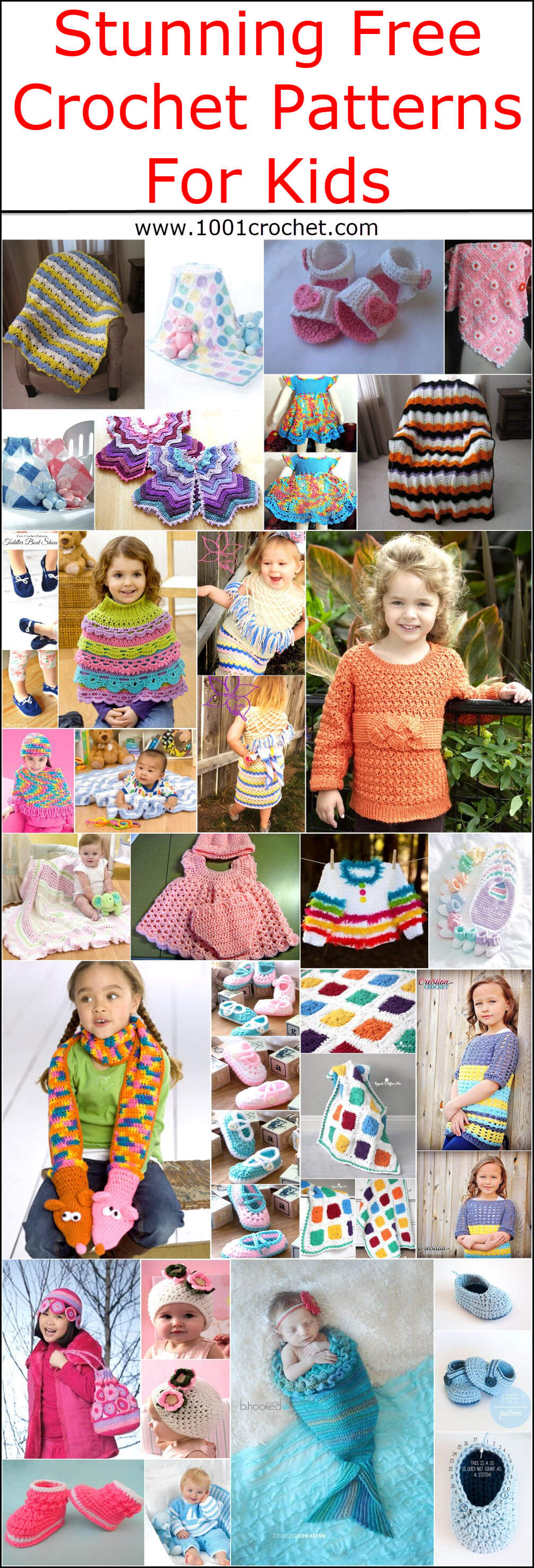 Stunning Free Crochet Patterns For Kids