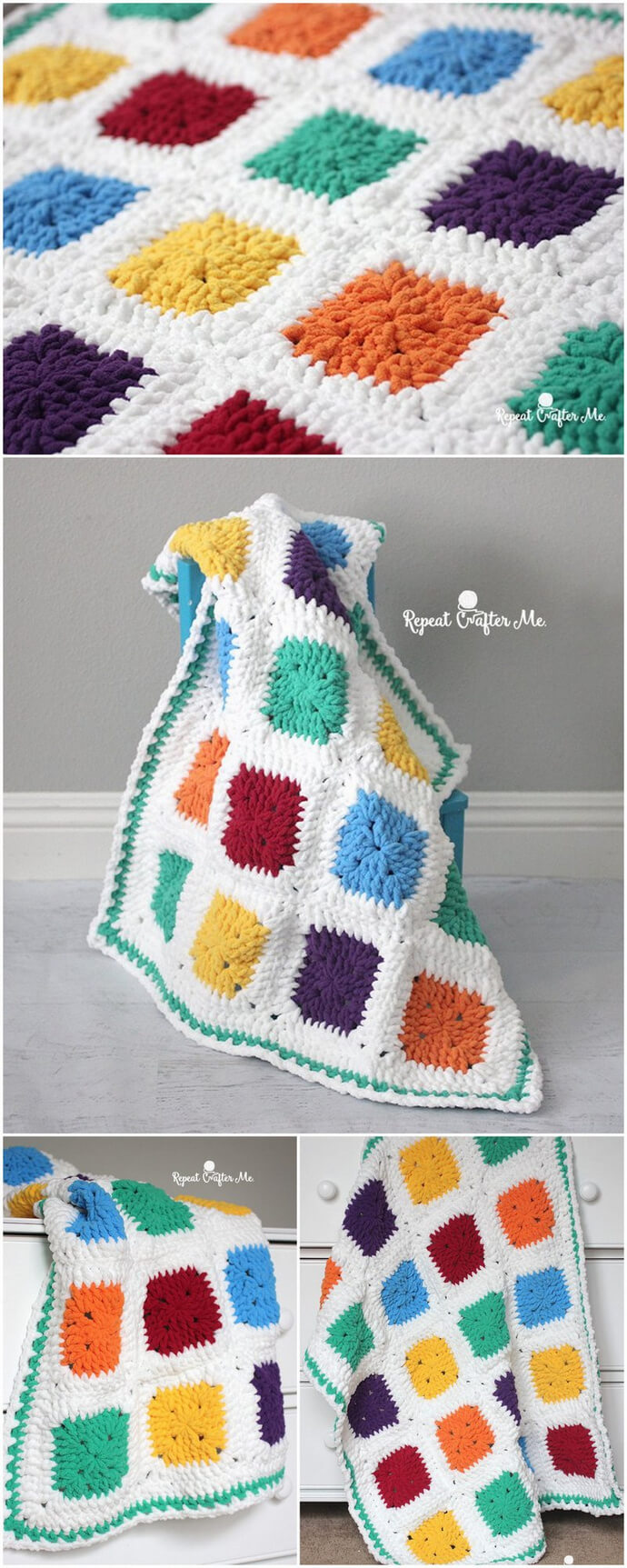 bright and bulky bernat blanket
