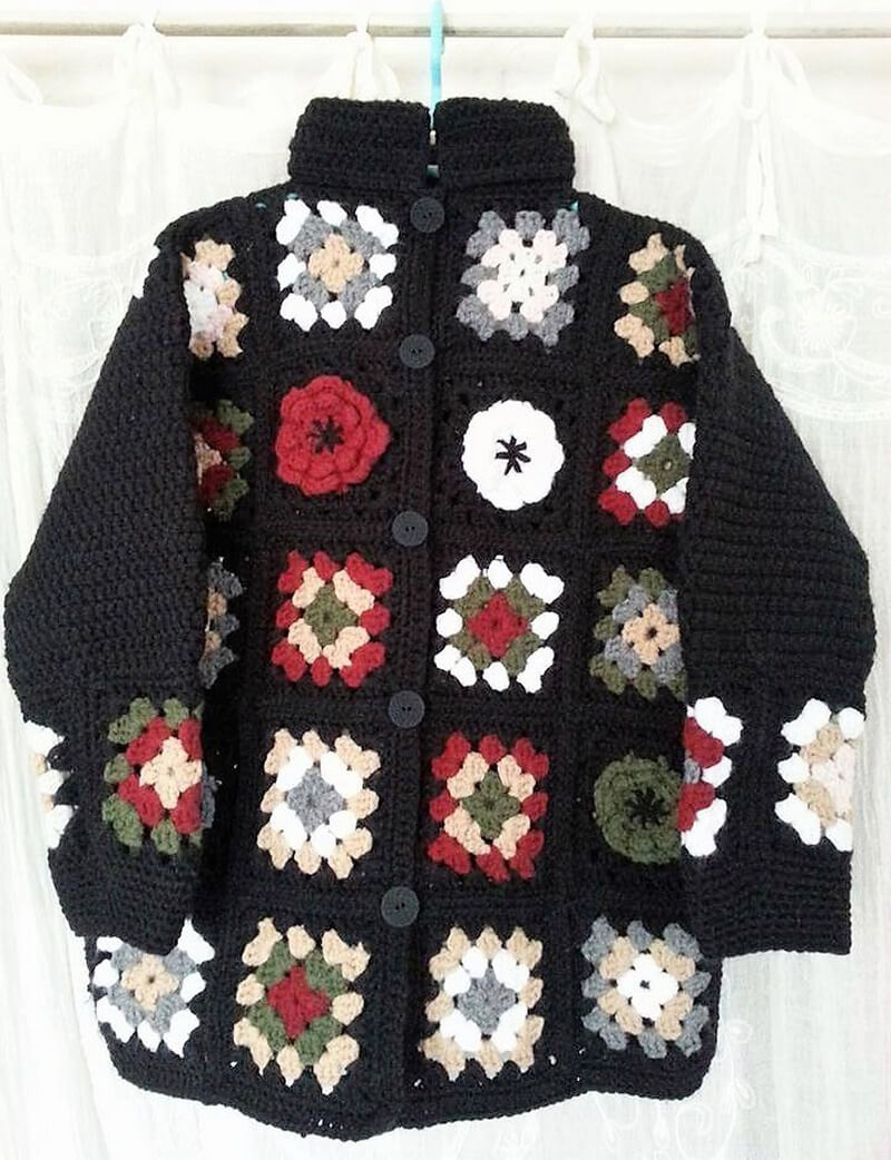 crochet cardigan 7