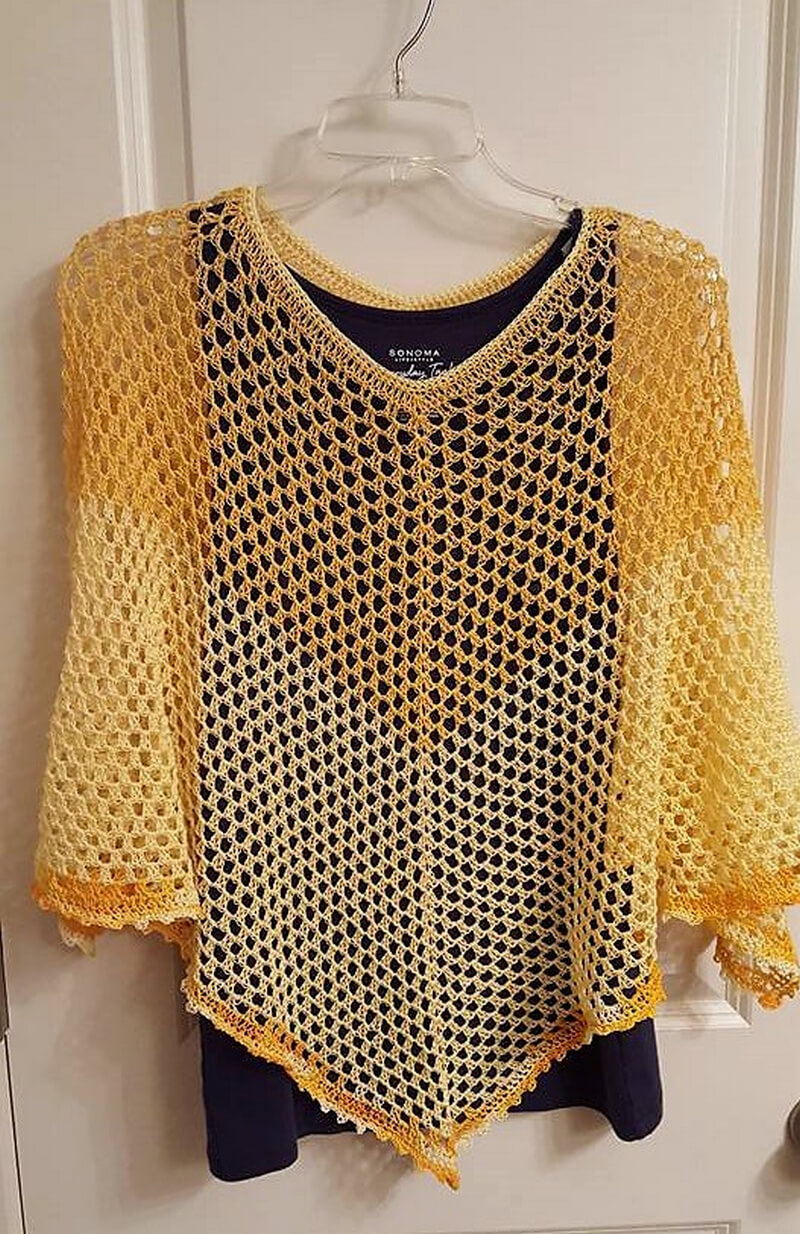 crocheted poncho 12