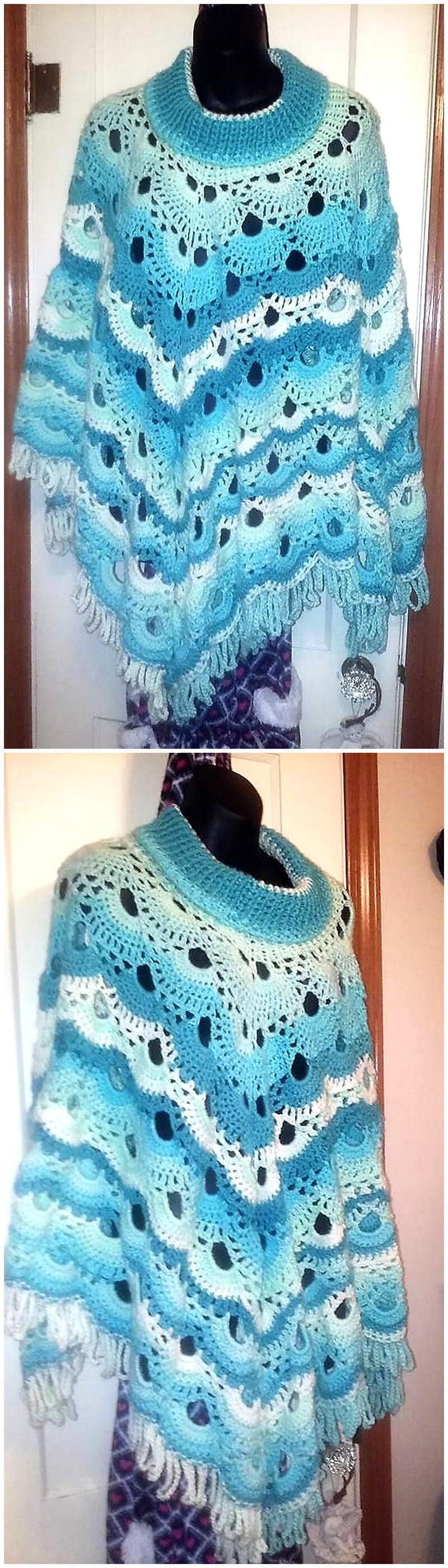 crocheted poncho 2