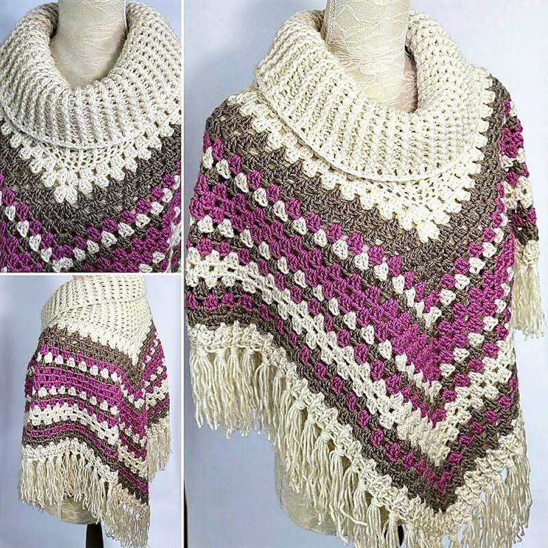 crocheted poncho 6