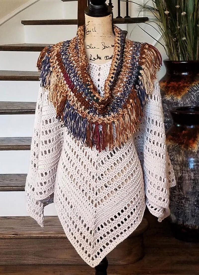 crocheted poncho 7