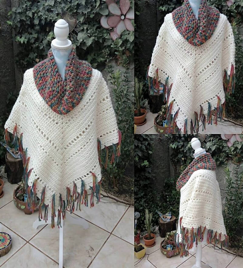 crocheted poncho 9