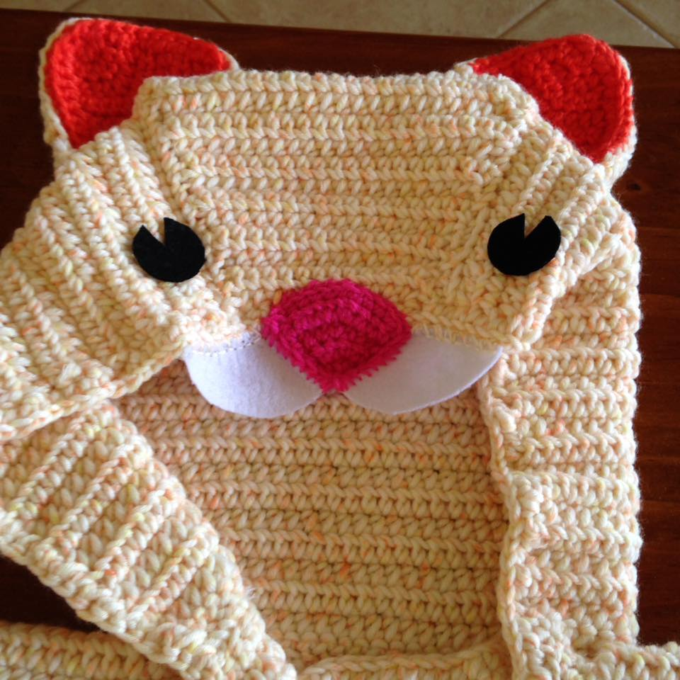 Cat Hoodie Crochet Sweater