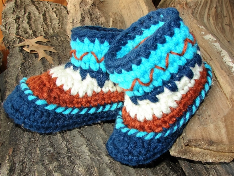 Design Ideas for Crocheted Baby Booties