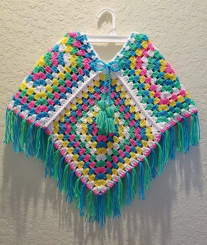 Warm Your Body with Crocheted Poncho