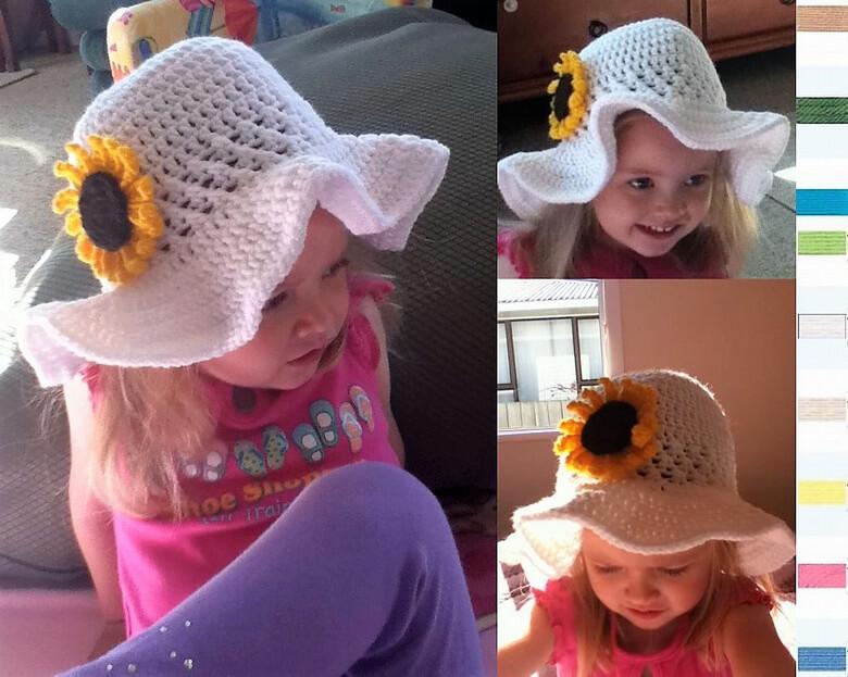 e9415076300902 Crochet Sun Hat Free Patterns for Kids – 1001 Crochet